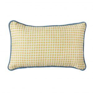 Yellow Diamond Dot cushion
