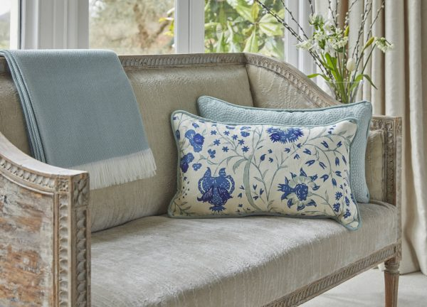 Duck Egg Dianthus cushion