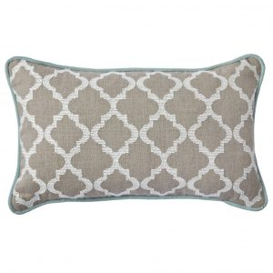 Duck Egg Fretwork cushion