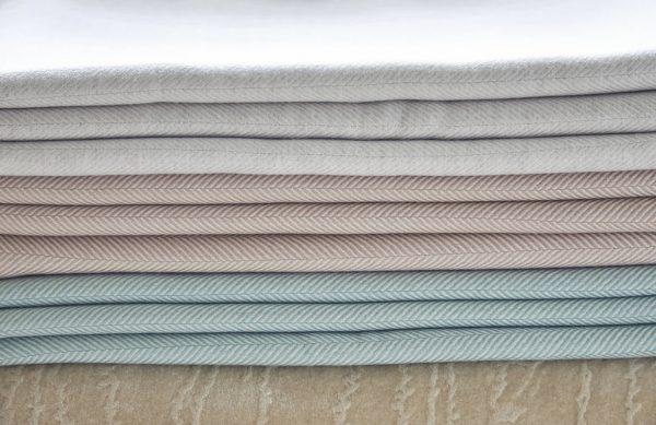 herringbone cashmere throws