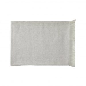 Silver Birch herringbone cashmere throw